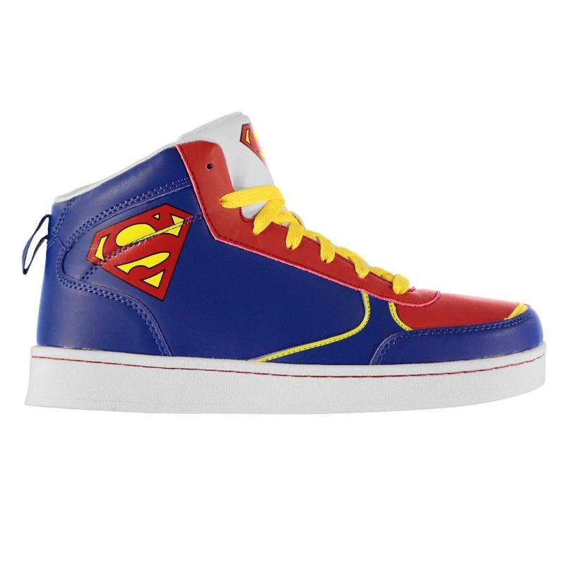 Boty DC Comics Superman Hi Top Junior Trainers Blue