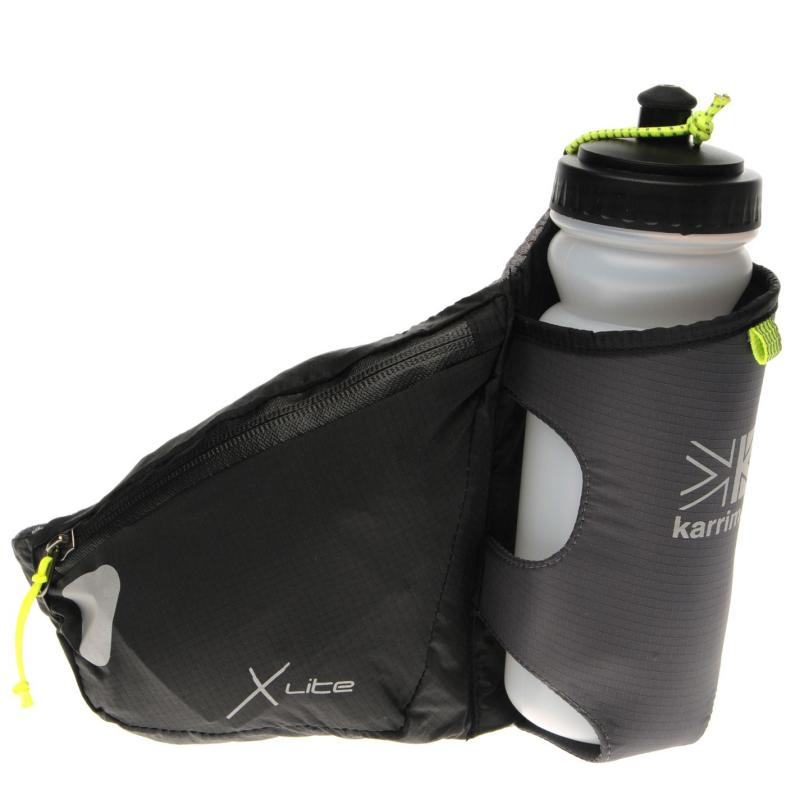 Karrimor X Lite Running Belt and Bottle Black
