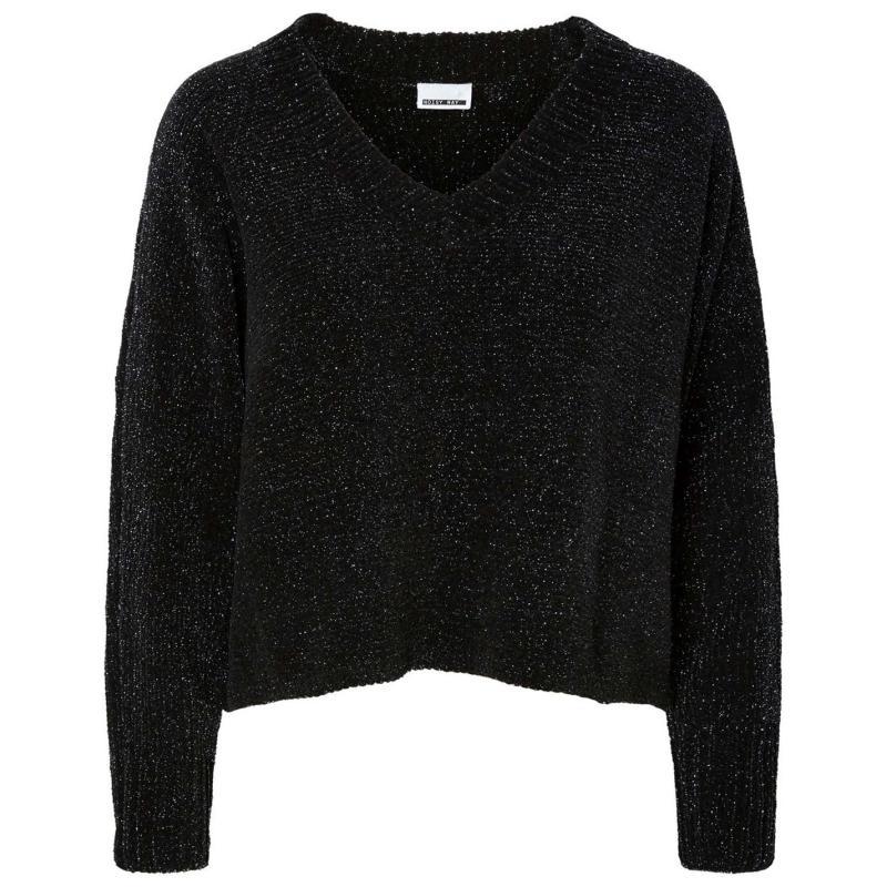 Svetr Noisy May Michelle Knit Jumper Black