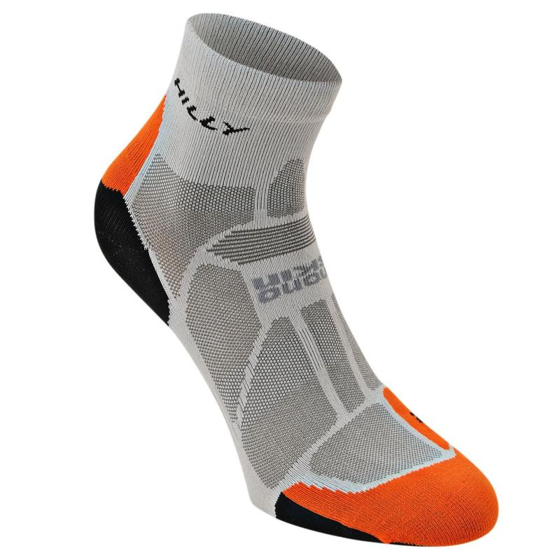 Ponožky Hilly Marathon Fresh Adults Running Socks Grey/Ora/Bla