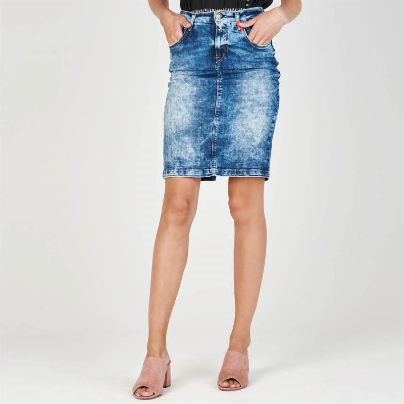Sukně Replay Jean Skirt Blue