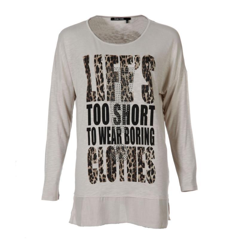 Košile Marc Aurel Shirt Ladies 97501 latte var