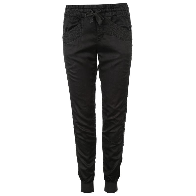 Sportovní kalhoty Deha Shiny Satin Cuffed Pants Ladies Dk Brown