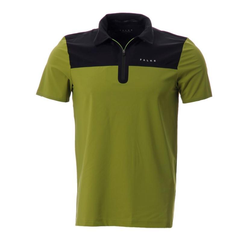 Falke Short Sleeve Polo Shirt Mens Dk Green/Black