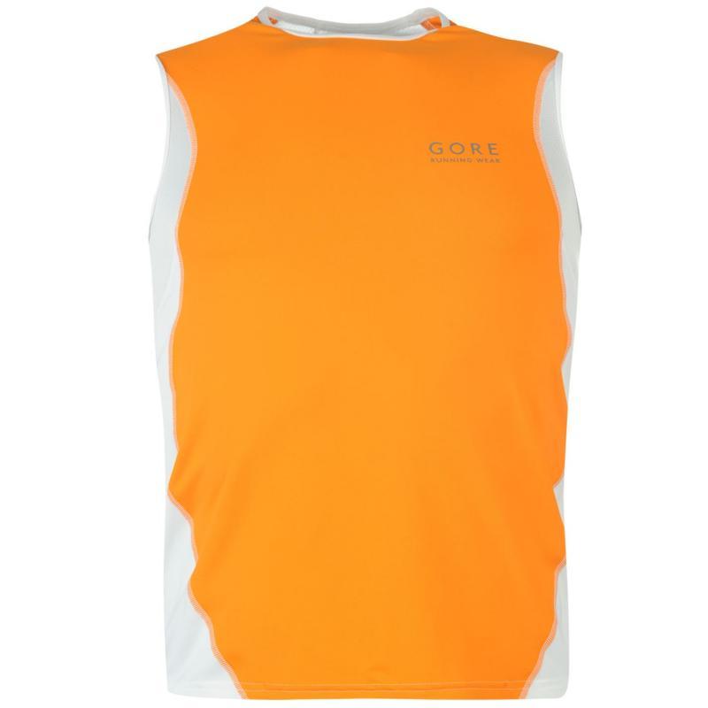 Tílko Gore Air Running Tank Top Mens Orange/White