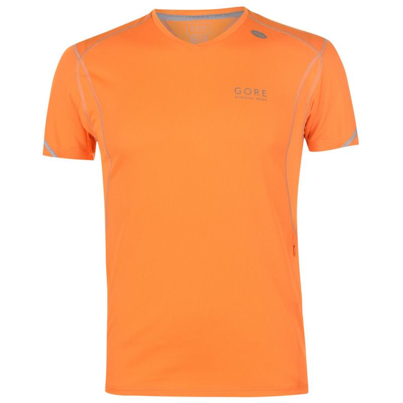 Tričko Gore Essential Running T Shirt Mens Orange