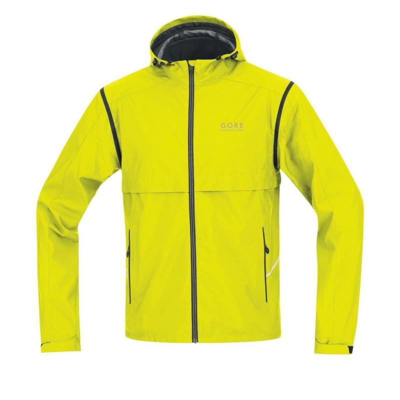 Gore Essential Ziped Jacket Mens Yellow/Black