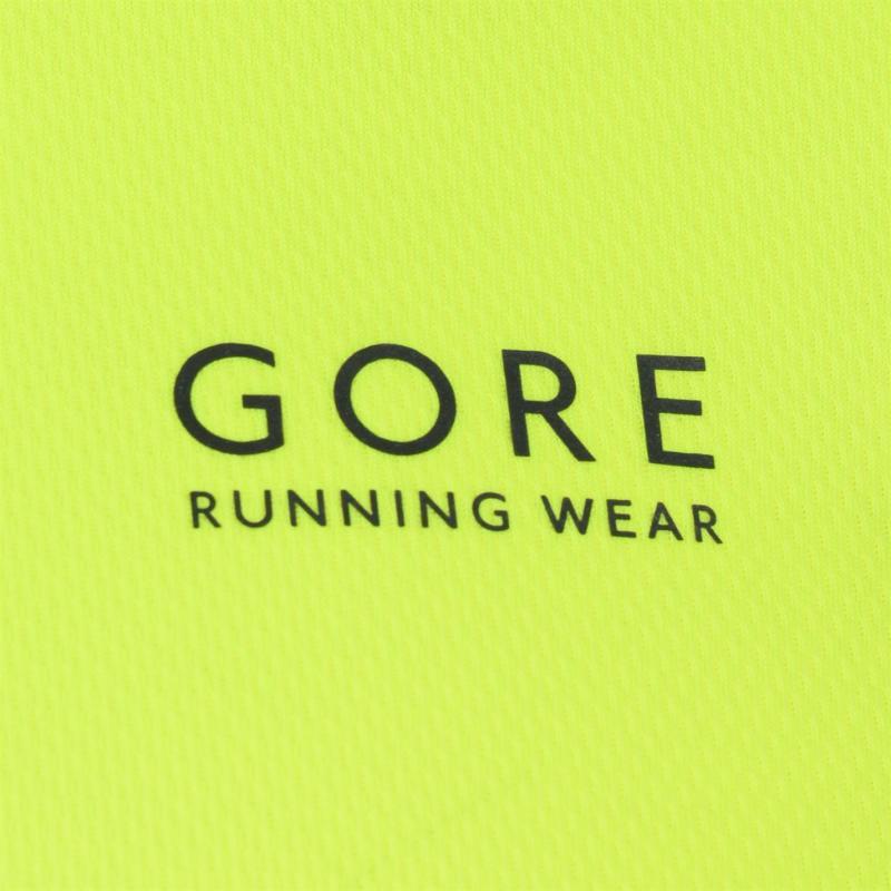 Tričko Gore Essential Running T Shirt Mens Black/Fluo Yell