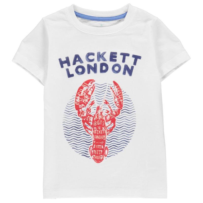 Tričko Hackett Hackett Boys Short Sleeved Lobster T-Shirt 800 White