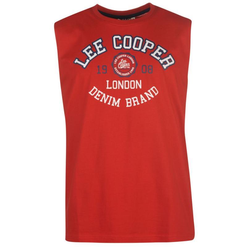 Tílko Lee Cooper Logo Tank Vest Mens Vintage Red