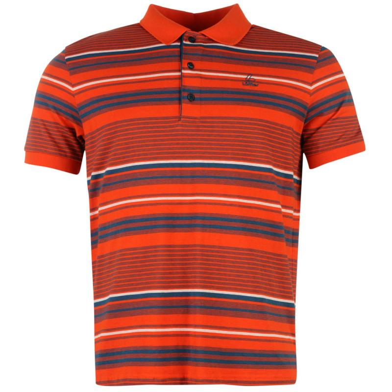 Löffler Transtex Polo Shirt Mens Orange/Petrol