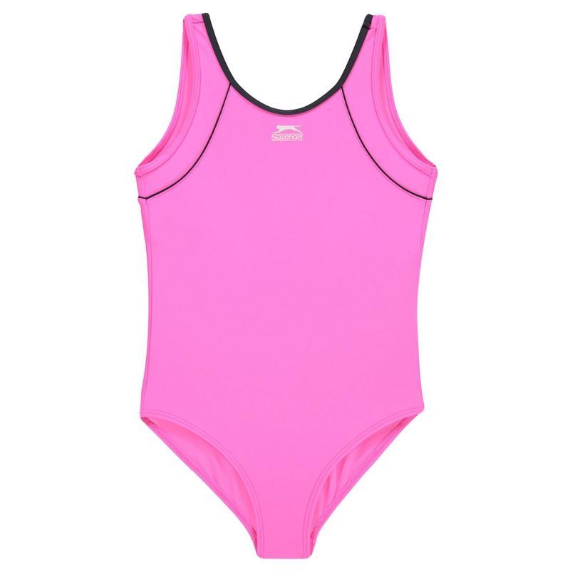 Slazenger Basic Swimsuit Junior Girls Pink
