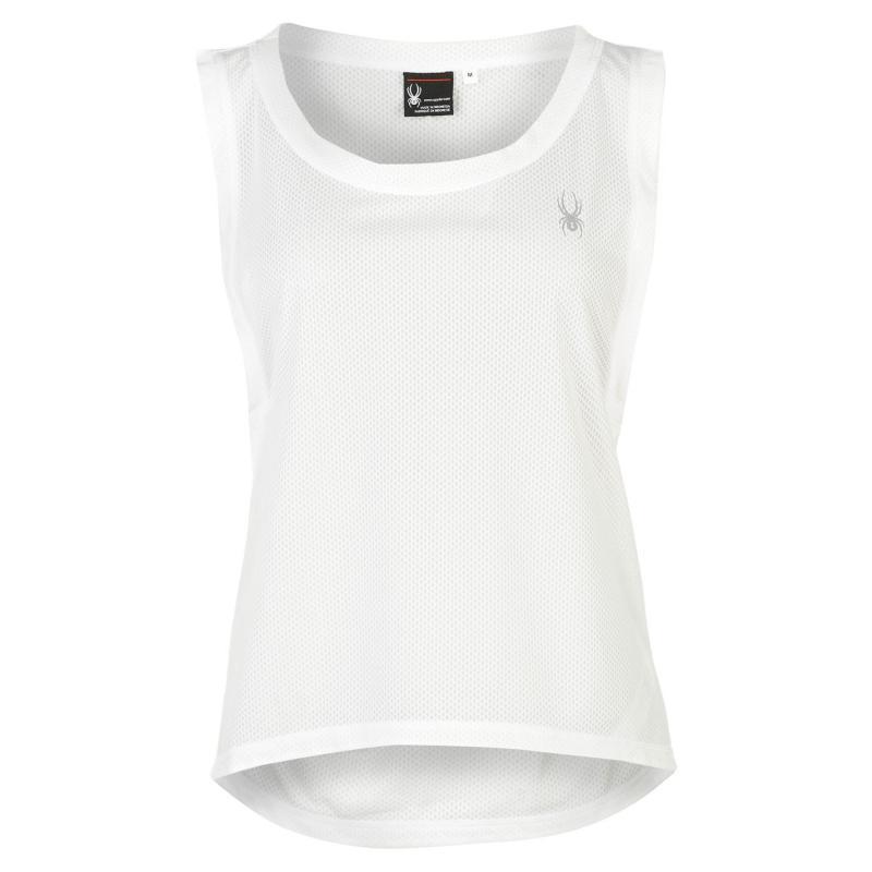 Spyder Vista Sleeveless T Shirt Ladies White