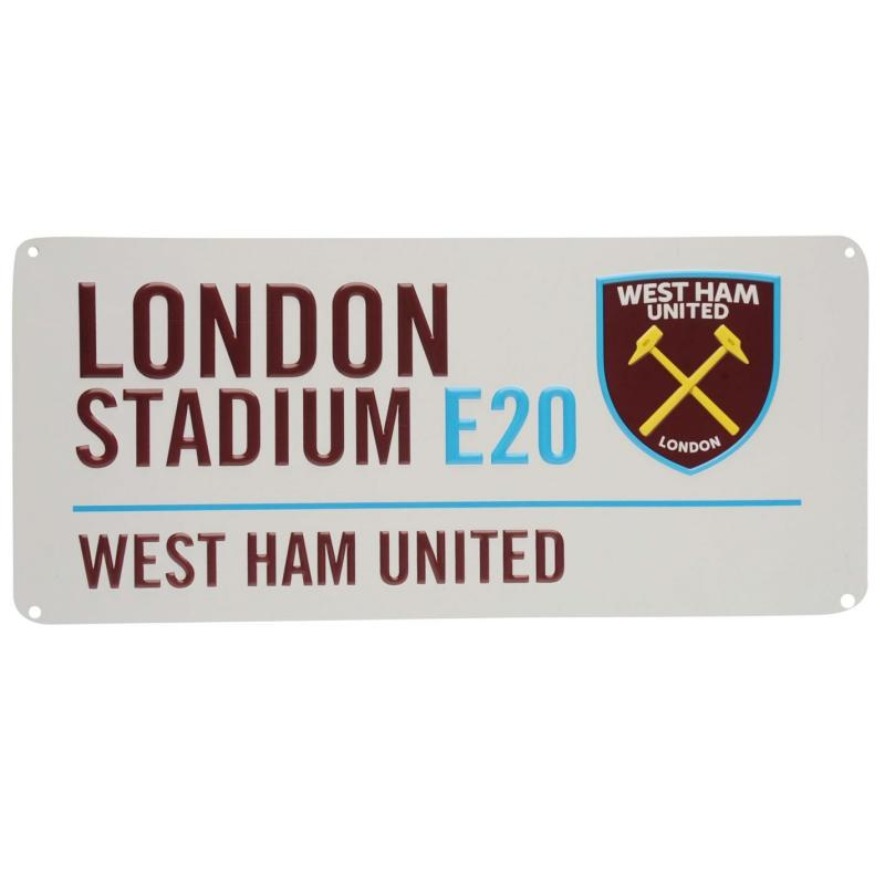 Team 3D Street Sign West Ham