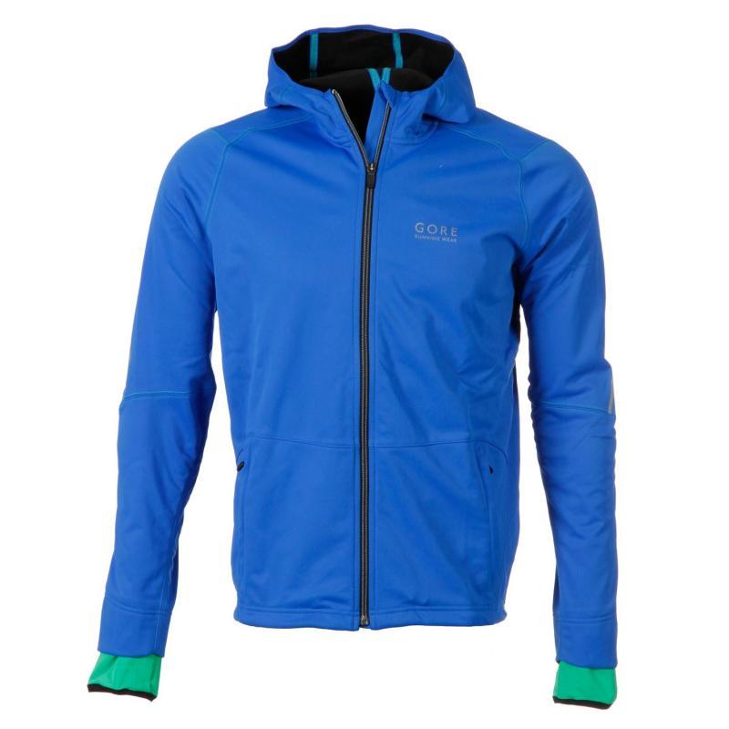 Tričko Gore Essential Softshell Running Jacket Mens Black/Fluo Yell