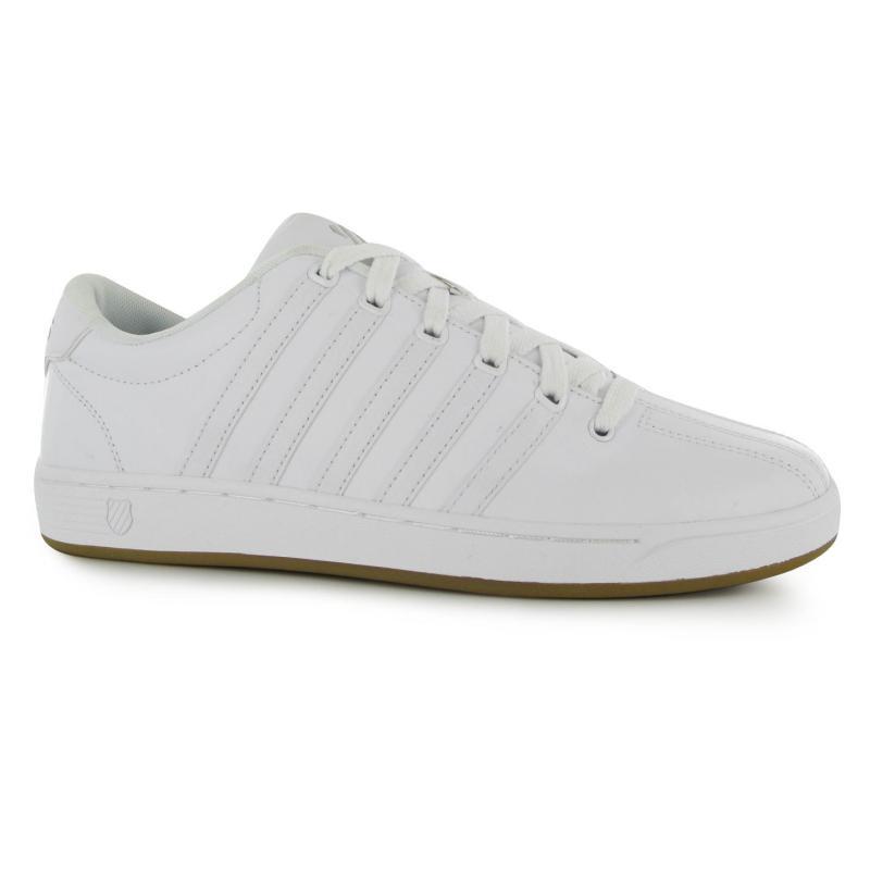K Swiss Court Pro II Mens Trainers White/White/Gum