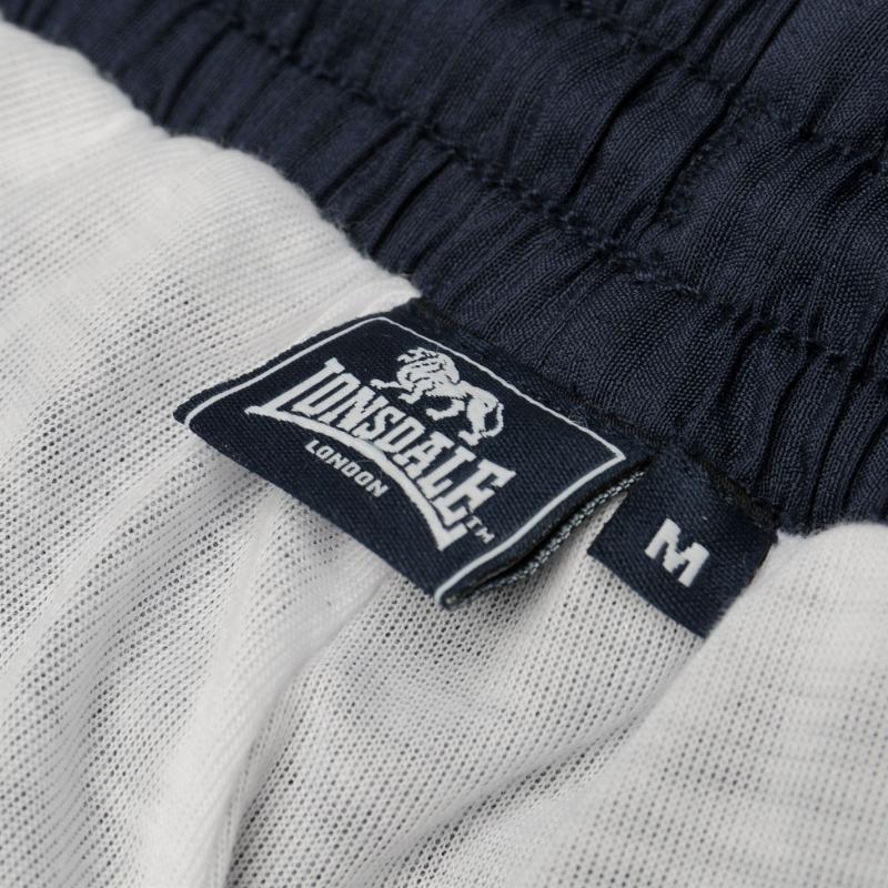 Tepláky Lonsdale 2 Stripe Tracksuit Bottoms Mens Navy/White