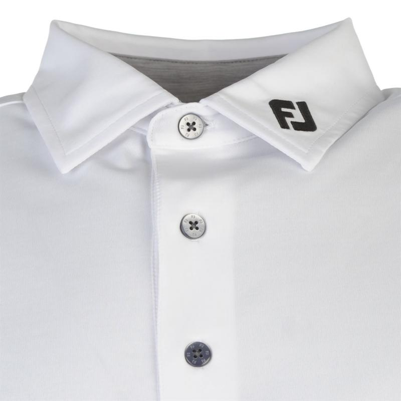 Footjoy Colour Block Golf Polo Shirt Mens White/Black