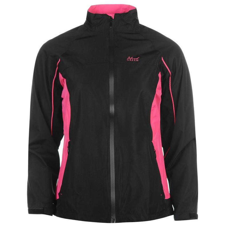 Island Green Waterproof Suit Ladies Black/Hot Pink