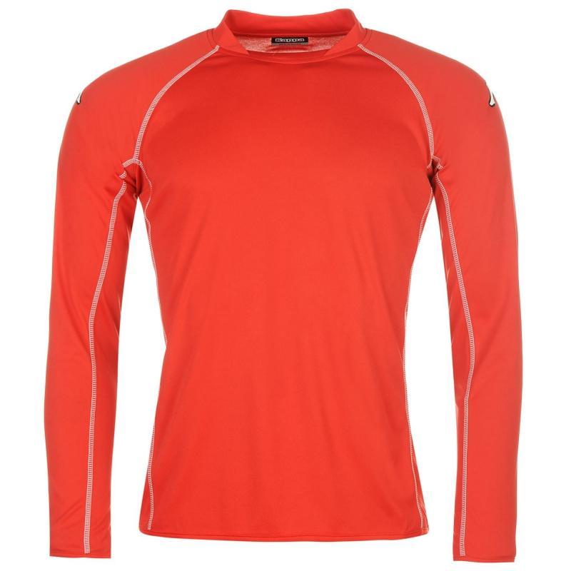 Tričko Kappa Masa Long Sleeve Football Tee Mens Red
