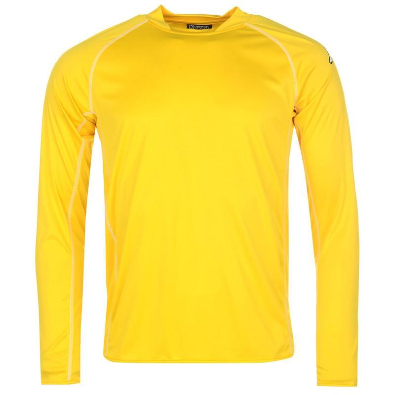 Tričko Kappa Masa Long Sleeve Football Tee Mens Yellow