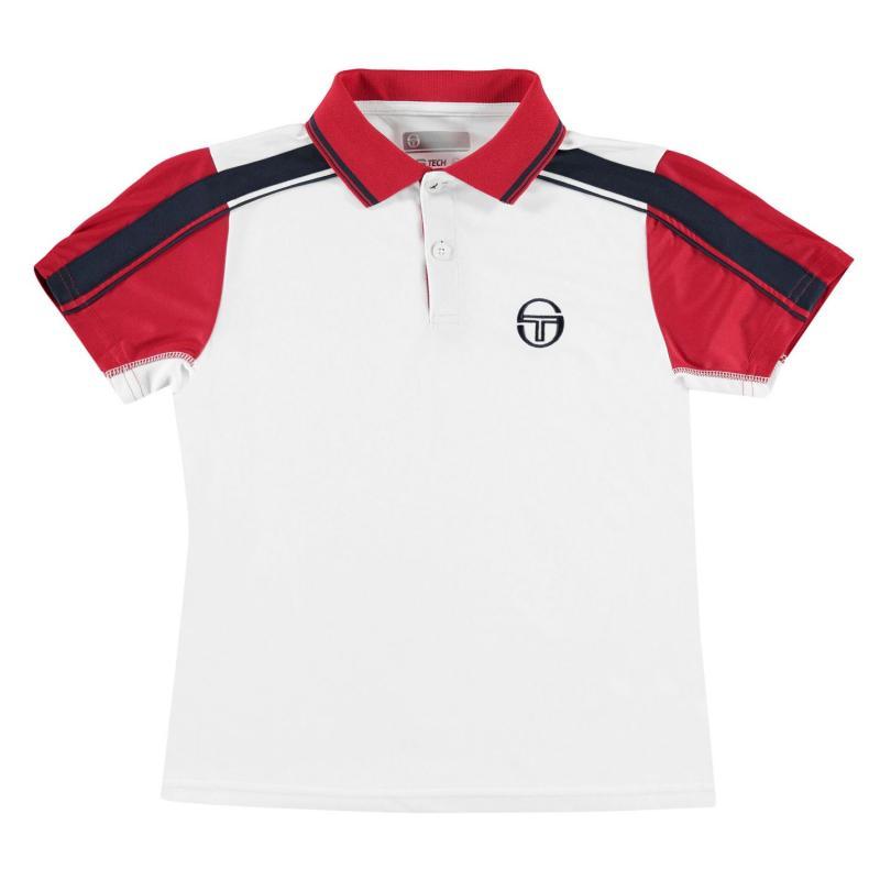 Sergio Tacchini Tacchini Polo Shirt Junior White/Red