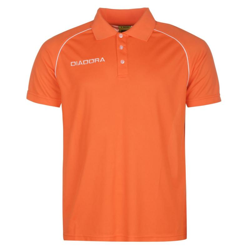 Diadora Madrid Polo Shirt Mens Orange
