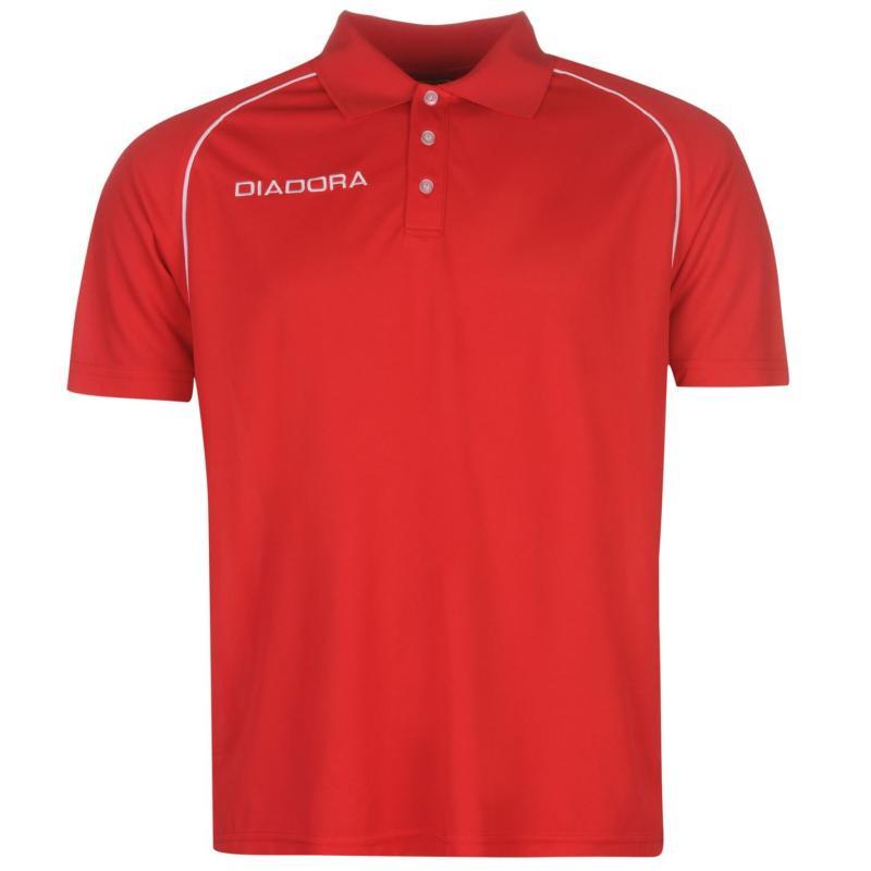 Diadora Madrid Polo Shirt Mens Red