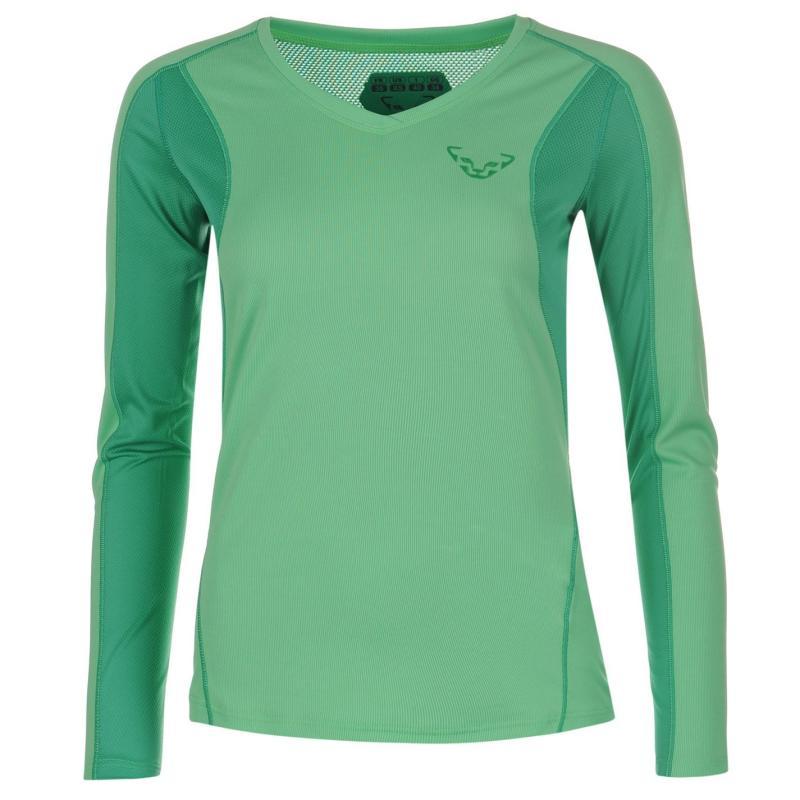 Košile Dynafit Trail Shirt Ladies Green/Aurora