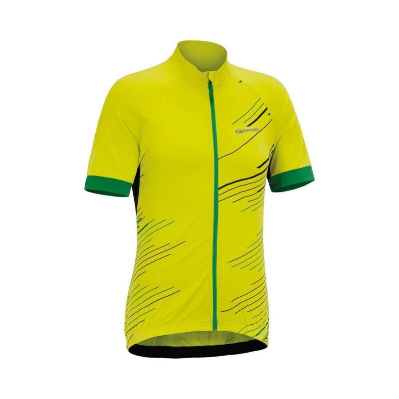 Tričko Gonso Active Active Triko Cycling Jersey Mens Yellow