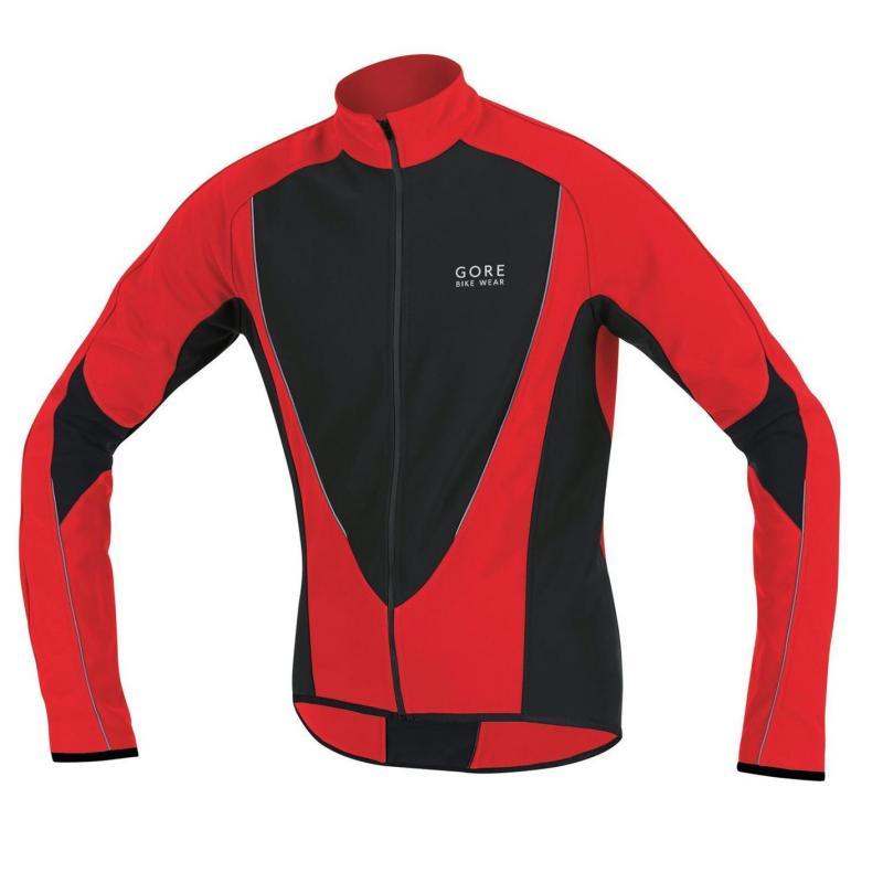 Gore Power Jacket Cycle Jacket Mens Red/Black