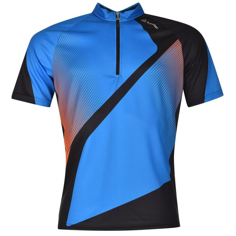 Tričko Löffler Tri Active Half Zip Cycling Jersey Mens Royal