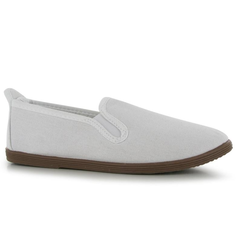 Miss Fiori Kung Fu Ladies Slip On Shoes White