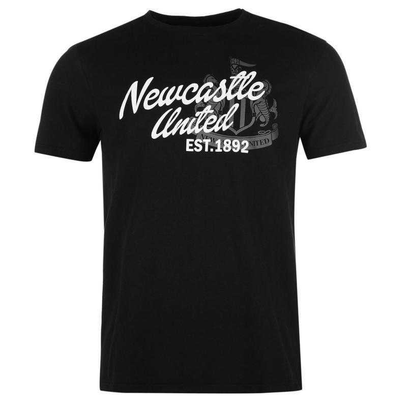 Tričko NUFC Newcastle United Graphic T Shirt Mens Black
