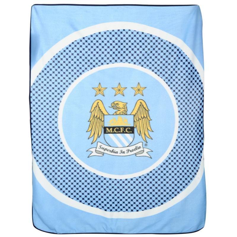 Team Fleece Blanket Man City