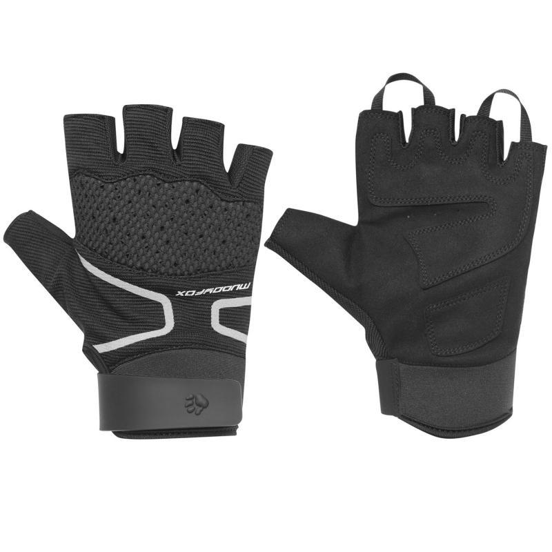 Muddyfox MTB Mitt Cycle Gloves Black/Grey/Red