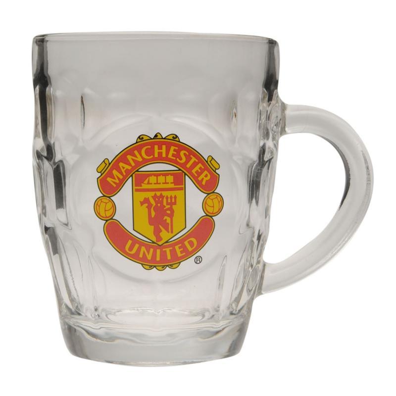Team Pint Glass Man Utd