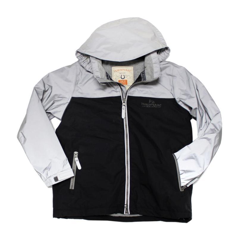 Horseware Childs Reflective Corrib Jacket Grey Reflective