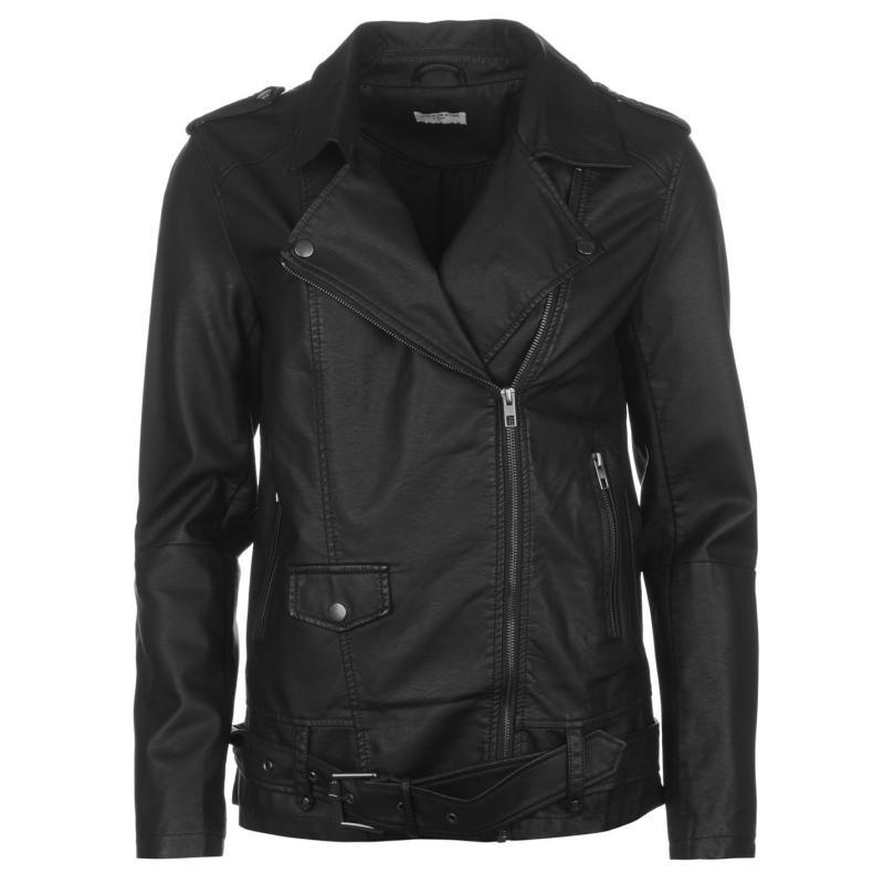 JDY Erica Long Biker Jacket Black