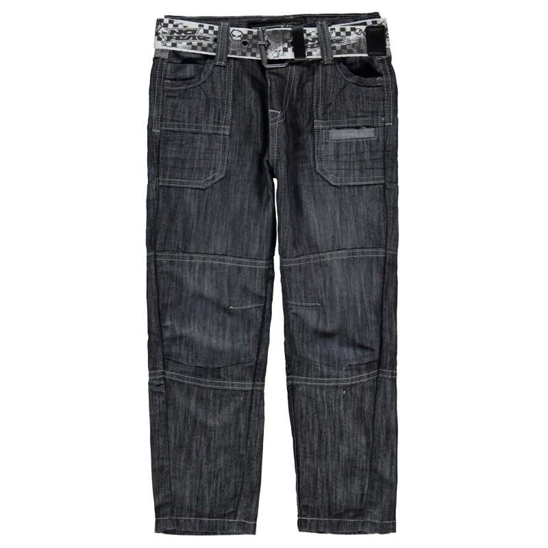 Kalhoty No Fear Belt Cargo Jeans Infant Boys Mid Wash
