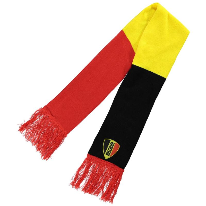 Team Supporter Scarf Tricolour Red/Belgium