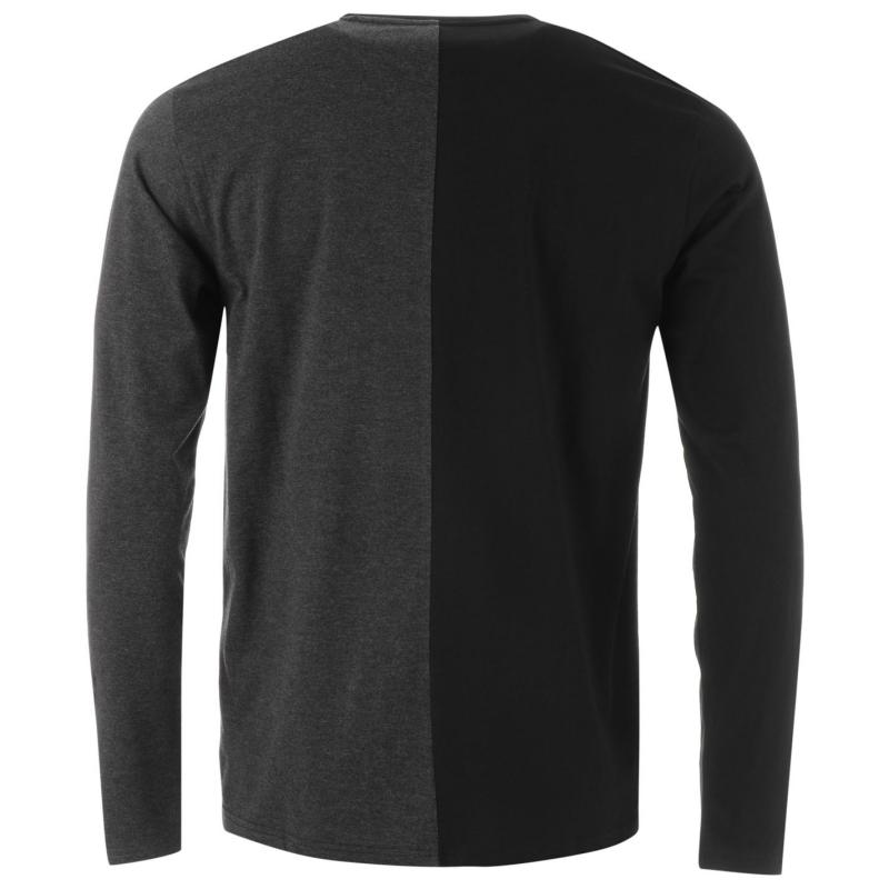 Tričko Fabric Contrast Splice Top Mens Black/Charc M
