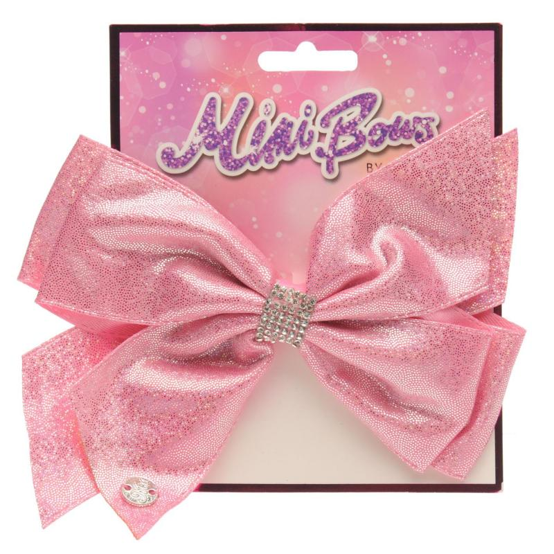 Miso MiMi Hair Bow Junior Girls Metalic Pink
