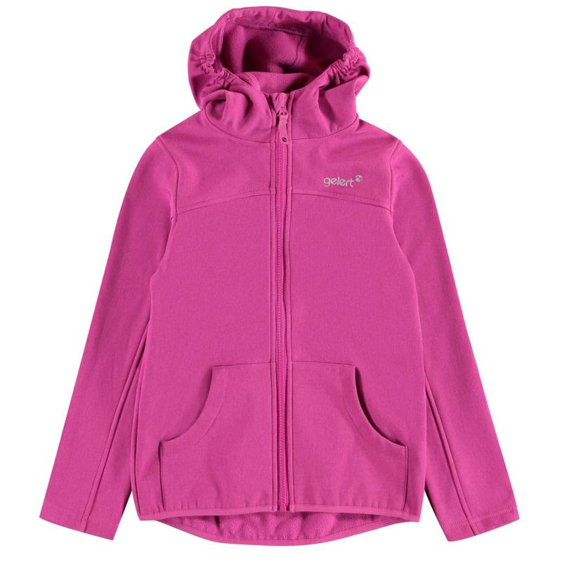 Bunda Gelert Softshell Hooded Jacket Unisex Junior Raspberry Marl