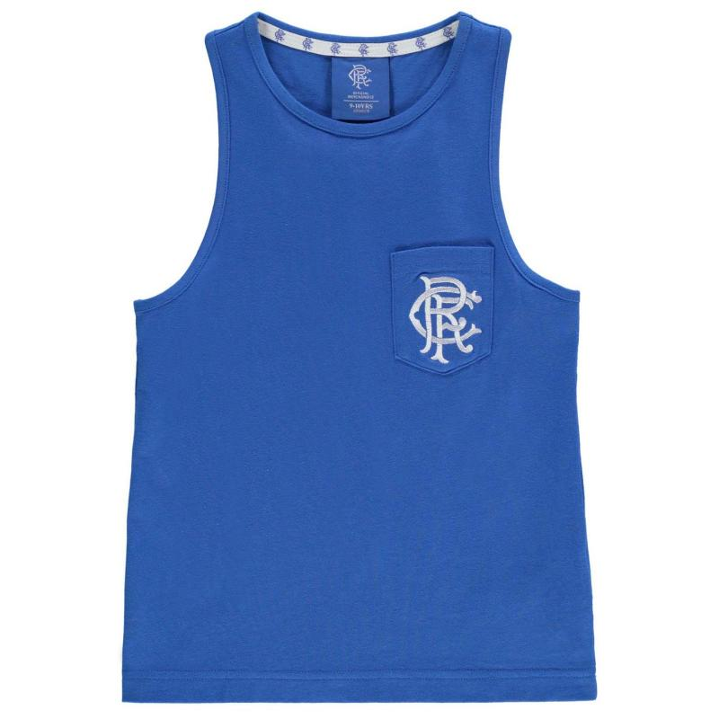 Team Rangers FC Muscle Vest Junior Boys Royal