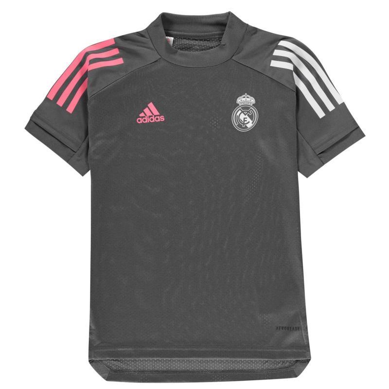 Adidas Real Madrid Training Shirt 2020 2021 Junior Grey