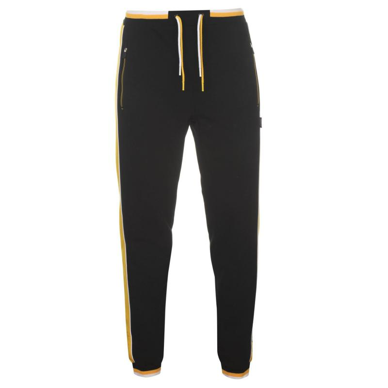 Everlast Large Logo Closed Hem Jogging Bottoms Mens Black