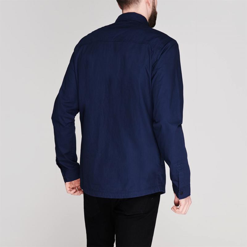 Firetrap Zip Shacket Overshirt Mens Navy
