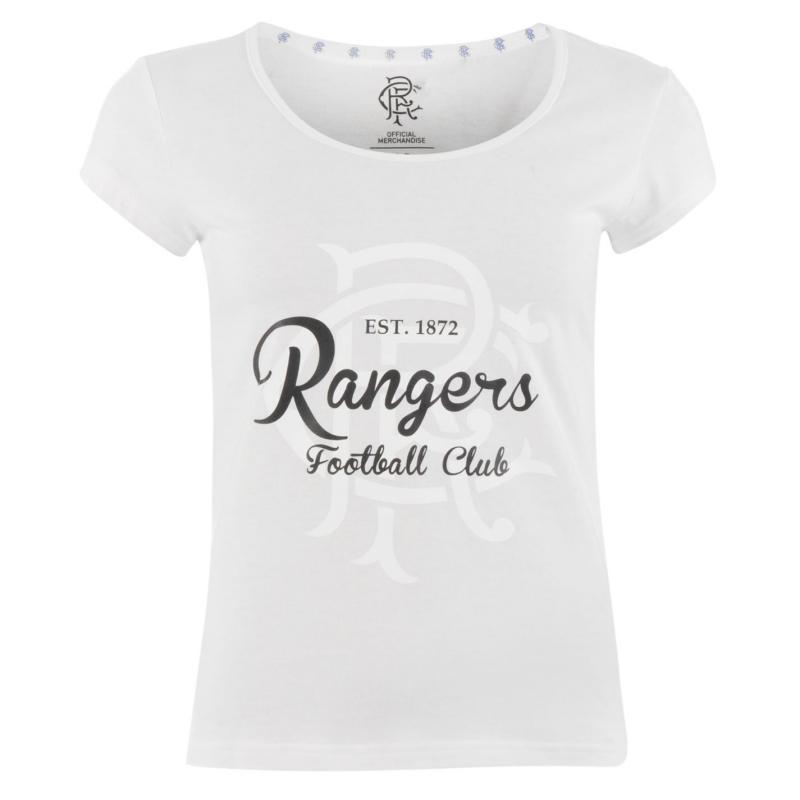 Team FC Crest Print T Shirt Ladies White
