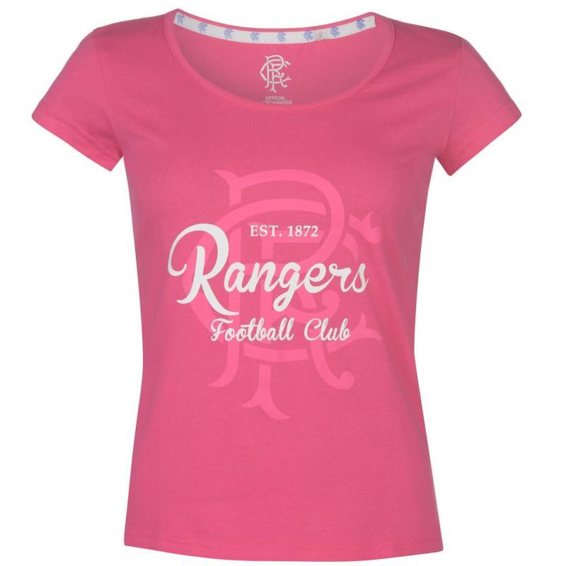 Team FC Crest Print T Shirt Ladies Pink
